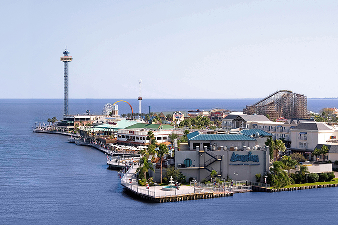 Kemah Boardwalk arial view